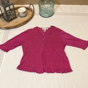 Victoria Holley Cardigan Large Hot Pink